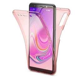 Stötsäkert Skal för Samsung Galaxy A50 Genomskinligt Telefon Sil Rosa guld