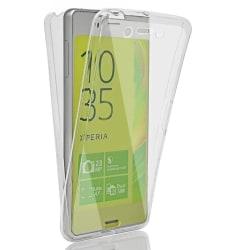 Stötsäkert Skal för Sony Xperia Z5 Mobil 360 Skydd Mobilskal Gum Transparent