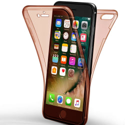 TPU Mobil-Skal för Apple iPhone 7 Plus / 8 Plus Skydd 360 Gummi  Rosa guld