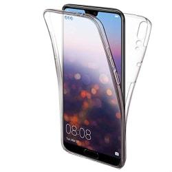 TPU Mobil-Skal för Huawei P20 Silikon 360 Graders Skydd Mobilska Transparent