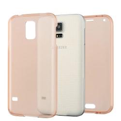TPU Mobil-Skal för Samsung Galaxy S5 Gummi Mobilskal Klart Mobil Rosa guld