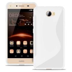 Ultra Slim Fodral för Huawei Y5II Silikon Mönstrad Stötfångare s Vit