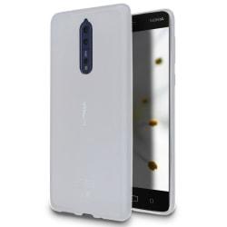 Ultra-Slim Skal Skydd till Nokia 8 | Vit Stöttåligt TPU Vit