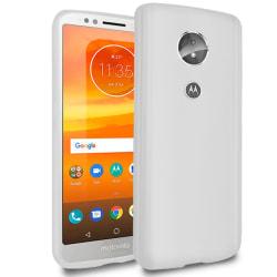 Ultra tunnt skal till för Motorola Moto E5 Enfärgat Gummi Skydd  Vit