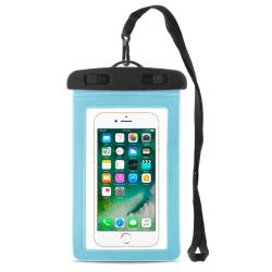 Vattentät telefon torr väska för Universal 6 Inch Ljus Bärbara   Blå