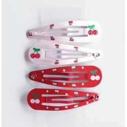 4 hårspännen med körsbär flerfärgad