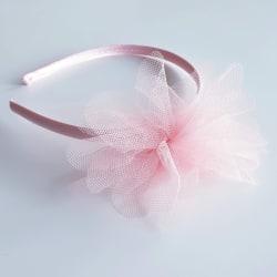 Diadem med tyllblomma rosa