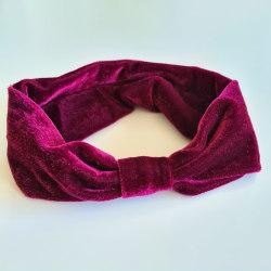 Hårband i mjuk sammet röd