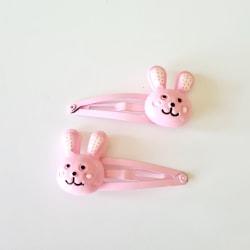 Hårspännen med kanin rosa