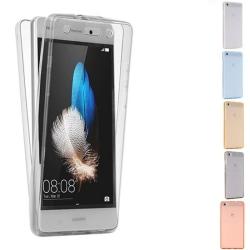 360° heltäckande silikon skal Huawei P8 Lite 2015 (ALE-L21) Transparent