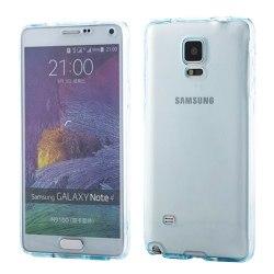 360° heltäckande silikon skal Samsung Galaxy Note 4 (SM-N910F) Blå