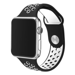 Apple Watch 42mm Sport Armband Svart/Vit