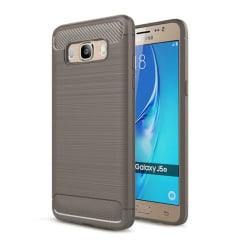 Borstat silikon TPU skal Samsung Galaxy J5 2016 (SM-J510F) Grå