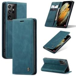 CaseMe Smart FlipCase Samsung Galaxy S21 Ultra Blå