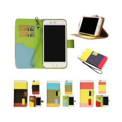 Color Mobilplånbok Apple iPhone 4 / 4S Svart