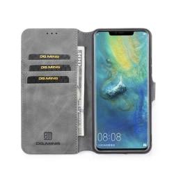 DG-Ming mobilplånbok 3-kort Huawei Mate 20 Pro (LYA-L29) Grå
