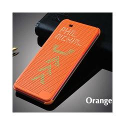 Dot View Case HTC ONE E8 Orange