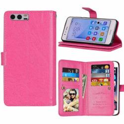 Dubbelflip Flexi 9-kort Huawei Honor 9 (STF-L09) Rosa