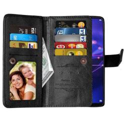 Dubbelflip Flexi 9-kort Huawei Mate 20 Lite (SNE-LX1) Svart