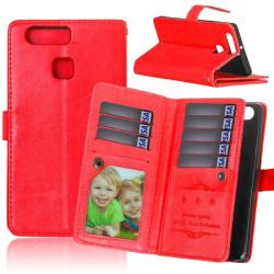 Dubbelflip Flexi 9-kort Huawei P9 (EVA-L09) Röd