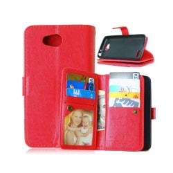 Dubbelflip Flexi 9-kort LG L70 / L65 (D280) Röd