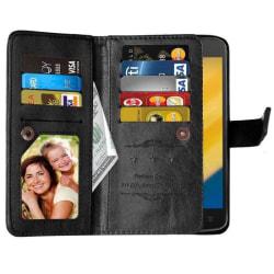 Dubbelflip Flexi 9-kort Motorola Moto C (XT1754) Svart