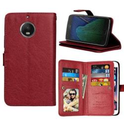Dubbelflip Flexi 9-kort Motorola Moto G5s Plus (XT1805) Brun