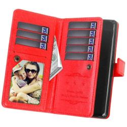 Dubbelflip Flexi 9-kort Motorola Moto G6 Plus (XT1926) Röd