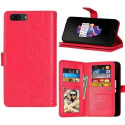Dubbelflip Flexi 9-kort OnePlus 5 (A5000) Röd