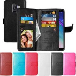 Dubbelflip Flexi 9-kort Samsung Galaxy A6 Plus 2018 (SM-A610F) Röd