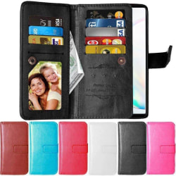 Dubbelflip Flexi 9-kort Samsung Galaxy Note 10 (SM-N970F) Rosa