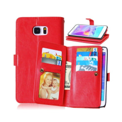 Dubbelflip Flexi 9-kort Samsung Galaxy Note 5 (SM-920C) Röd