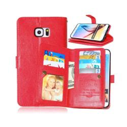 Dubbelflip Flexi 9-kort Samsung Galaxy S6 Edge Plus (SM-G928F) Röd