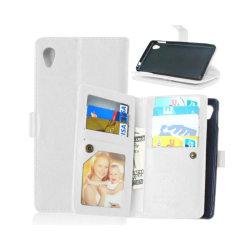 Dubbelflip Flexi 9-kort Sony Xperia M4 Aqua (E2303) Vit