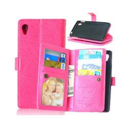 Dubbelflip Flexi 9-kort Sony Xperia M4 Aqua (E2303) Rosa