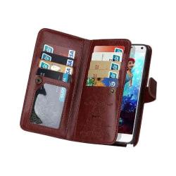Dubbelflip Magnet 2i1 Samsung Galaxy Note 5 (SM-920C) Brun