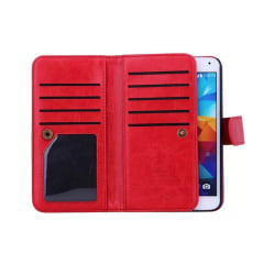 Dubbelflip Magnet 2i1 Samsung Galaxy S5 (SM-G900F) Röd