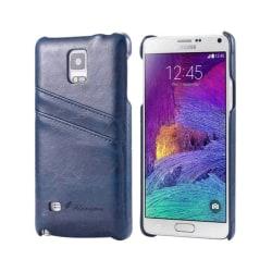 FloveMe skal med kortplatser Samsung Galaxy Note 4 (SM-N910F) Blå