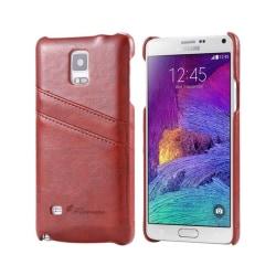 FloveMe skal med kortplatser Samsung Galaxy Note 4 (SM-N910F) Brun