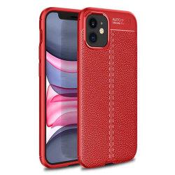 """Läder mönstrat TPU skal Apple iPhone 12 mini (5.4"""") Röd"""