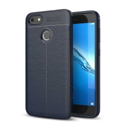 Läder mönstrat TPU skal  Huawei P9 Lite Mini (SLA-L22) Blå