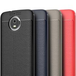 Läder mönstrat TPU skal Motorola Moto G5s (XT1794) Röd
