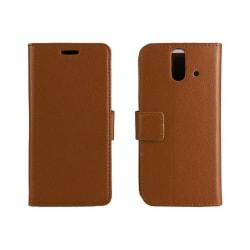 Mobilplånbok 2-kort HTC ONE E8 Brun