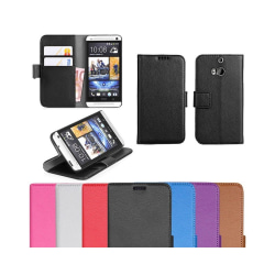 Mobilplånbok 2-kort HTC ONE M8 Vit