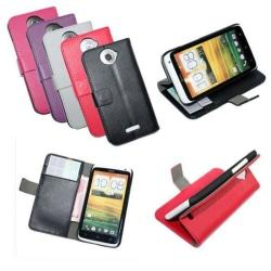 Mobilplånbok 2-kort HTC ONE X (S720e) Lila