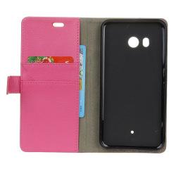 Mobilplånbok 2-kort HTC U11 Rosa