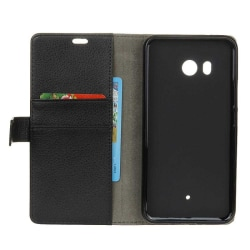 Mobilplånbok 2-kort HTC U11 Svart
