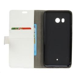 Mobilplånbok 2-kort HTC U11 Vit