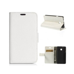 Mobilplånbok 2-kort Huawei Ascend Y330 Vit