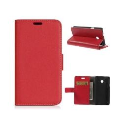 Mobilplånbok 2-kort Huawei Ascend Y330 Röd